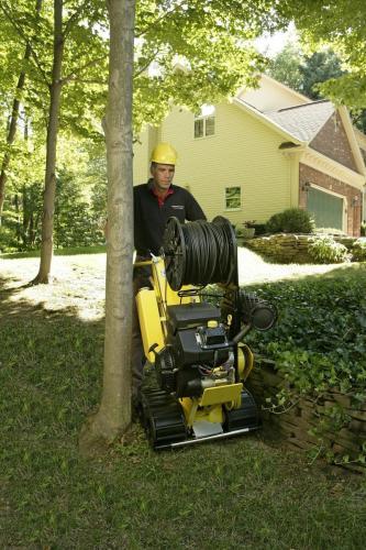 Man with L2 line Layer Machine